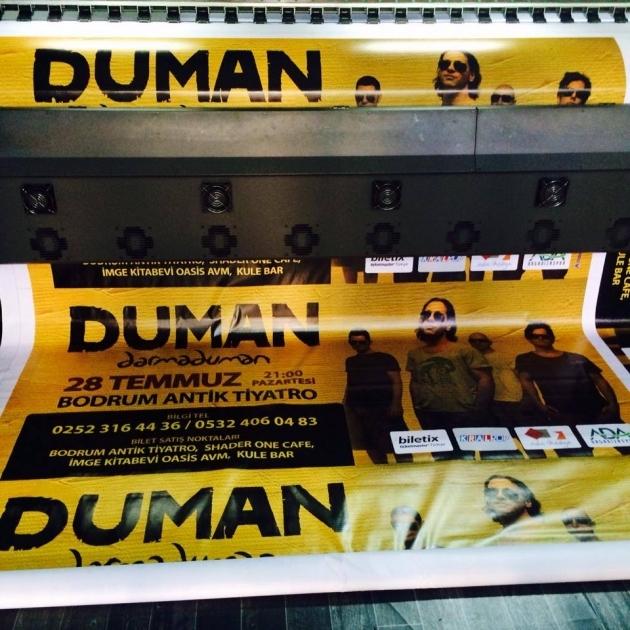 Bodrum DUMAN konseri afiş ve pankart baskısı - (14/03/2014)
