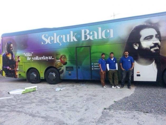 Selçuk Balcı Turne Otobüs Giydirme - (14/03/2014)